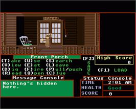 In game image of Psycho on the Commodore Amiga.
