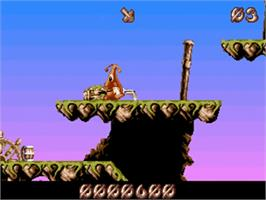 In game image of Puggsy on the Commodore Amiga.