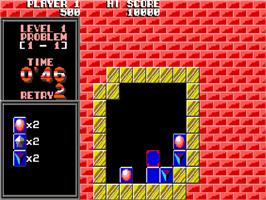 In game image of Puzznic on the Commodore Amiga.