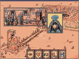 In game image of Quest for the Time-bird on the Commodore Amiga.