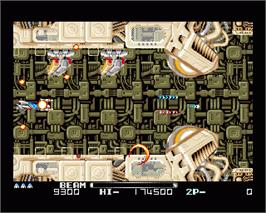 In game image of R-Type II on the Commodore Amiga.