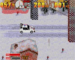 In game image of Rally Championships on the Commodore Amiga.