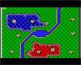 In game image of Rampart on the Commodore Amiga.