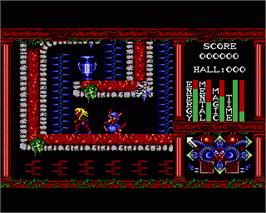 In game image of Realm of the Trolls on the Commodore Amiga.