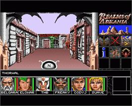 In game image of Realms of Arkania: Blade of Destiny on the Commodore Amiga.