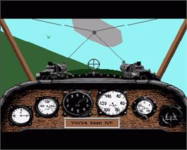 In game image of Red Baron on the Commodore Amiga.