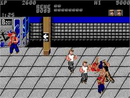 In game image of Renegade on the Commodore Amiga.