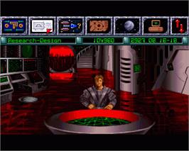 In game image of Reunion on the Commodore Amiga.