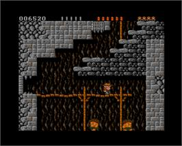 In game image of Rick Dangerous on the Commodore Amiga.