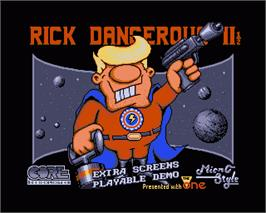In game image of Rick Dangerous 2 on the Commodore Amiga.