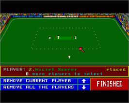 In game image of Robin Smith's International Cricket on the Commodore Amiga.
