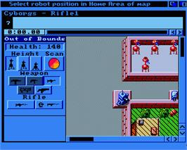 In game image of RoboSport on the Commodore Amiga.