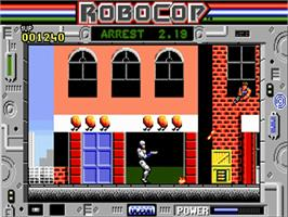 In game image of Robocop on the Commodore Amiga.