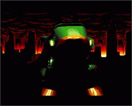 In game image of Robozone on the Commodore Amiga.