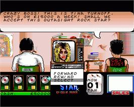 In game image of Rock Star Ate my Hamster on the Commodore Amiga.