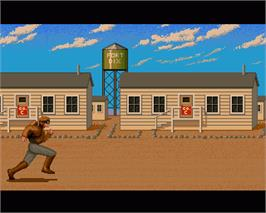 In game image of Rocket Ranger on the Commodore Amiga.