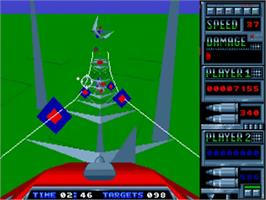 In game image of Roller Coaster Rumbler on the Commodore Amiga.
