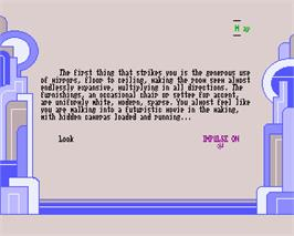 In game image of Romantic Encounters at the Dome on the Commodore Amiga.