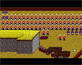 In game image of Rorke's Drift on the Commodore Amiga.