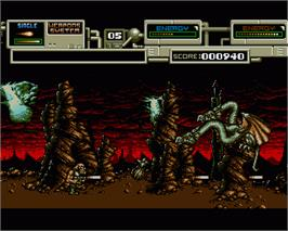 In game image of Rubicon on the Commodore Amiga.