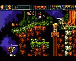 In game image of Ruff 'n' Tumble on the Commodore Amiga.