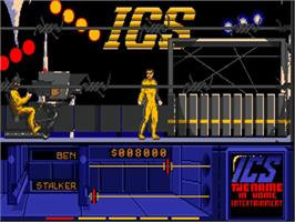 In game image of Running Man on the Commodore Amiga.