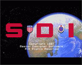 In game image of S.D.I. on the Commodore Amiga.