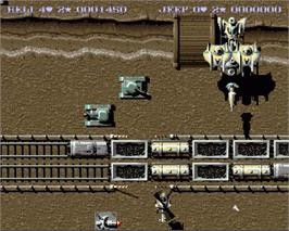 In game image of S.W.I.V. on the Commodore Amiga.