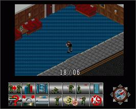 In game image of Sabre Team on the Commodore Amiga.