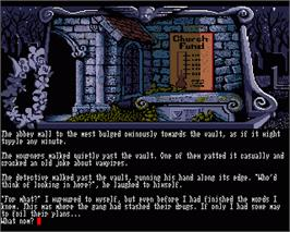 In game image of Scapeghost on the Commodore Amiga.