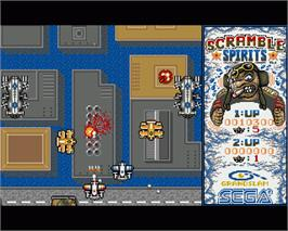 In game image of Scramble Spirits on the Commodore Amiga.