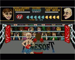 In game image of Seconds Out on the Commodore Amiga.
