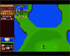 In game image of Sensible Golf on the Commodore Amiga.