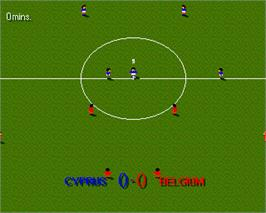 In game image of Sensible Soccer: European Champions: 92/93 Edition on the Commodore Amiga.