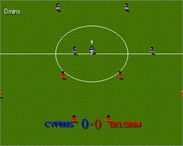 In game image of Sensible Soccer: European Champions on the Commodore Amiga.