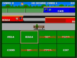 In game image of Sensible Train-Spotting on the Commodore Amiga.