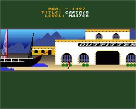 In game image of Seven Cities of Gold on the Commodore Amiga.