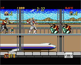 In game image of Shadow Dancer on the Commodore Amiga.