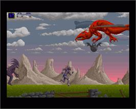 In game image of Shadow of the Beast on the Commodore Amiga.