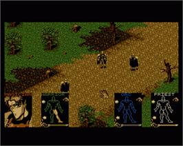 In game image of Shadowlands on the Commodore Amiga.