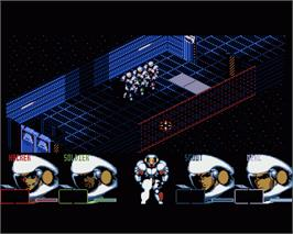 In game image of Shadoworlds on the Commodore Amiga.