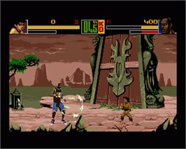 In game image of Shaq Fu on the Commodore Amiga.
