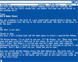 In game image of Sherlock: The Riddle of the Crown Jewels on the Commodore Amiga.