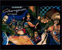 In game image of Shufflepuck Cafe on the Commodore Amiga.