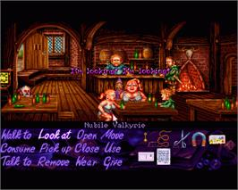 In game image of Simon the Sorcerer on the Commodore Amiga.