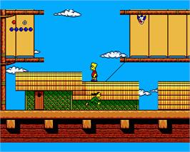 In game image of Simpsons: Bart vs. the World on the Commodore Amiga.