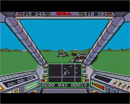 In game image of Sky Fox on the Commodore Amiga.