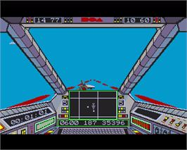 In game image of Skyfox II: The Cygnus Conflict on the Commodore Amiga.