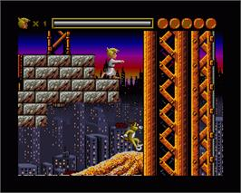 In game image of Sleepwalker on the Commodore Amiga.