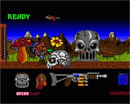 In game image of Sol Negro on the Commodore Amiga.